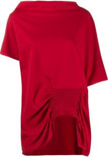 Pierantoniogaspari Blusa Com Detalhe De Pregas - Vermelho