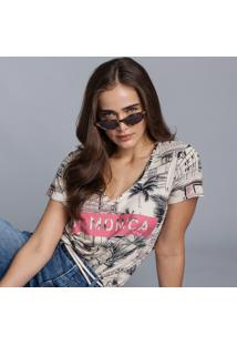 Blusa Decote V Estampada Hollywood - Lez A Lez