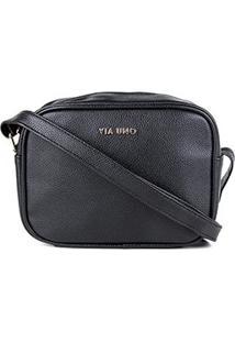 Bolsa Via Uno Mini Bag Feminina - Feminino-Preto