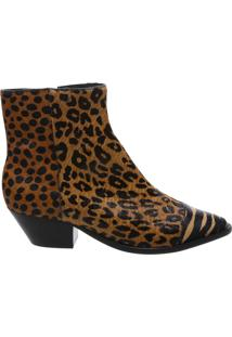 Bota New Western Animal Print Mix | Schutz