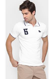 Camisa Polo Rg 518 Piquet Friso Bordado - Masculino
