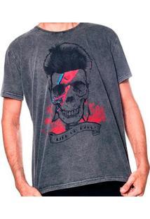 Camiseta Estonada Skull Bowie Liverpool Masculina - Masculino