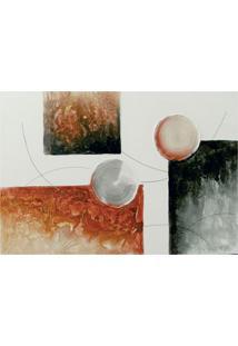 Quadro Artesanal Com Textura Abstrato Ii Vermelho 70X100 Uniart