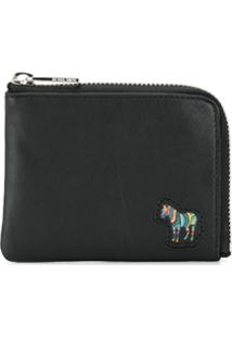 Ps Paul Smith Carteira Com Patch De Zebra - Preto