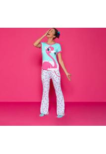 Pijama Flamingo- Verde ÁGua & Rosapuket