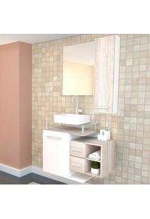 Conjunto De Gabinete Para Banheiro Com Cuba Amanda-Arteban - Bege