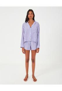 Blusa Pijama Loja Três - Feminino-Azul