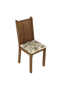 Kit 6 Cadeiras 4290 Madesa - Rustic/Lírio Bege Marrom