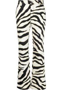 Just Cavalli Calça Jeans Slim Com Estampa De Zebra - Neutro