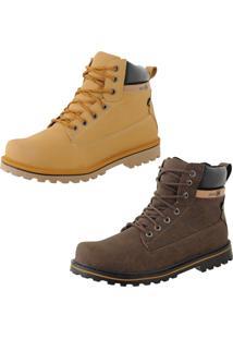 Bota Casual Cr Shoes Adventure Caramelo Marrom