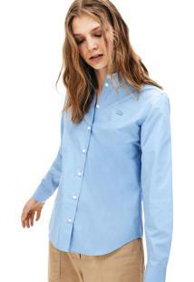 Camisa Lacoste Regular Fit Azul