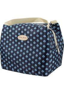 Bolsa Térmica Geométrica- Azul Marinho Off White- Jacki Design