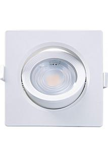 Spot Embutir Quadrado Alltop Led Par20 7W 6500K 45º Taschibra 6500K Luz Branca