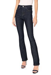 Calça Jeans Calvin Klein Reta Pespontos Azul-Marinho