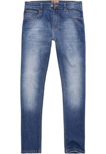 Calça West Coast Jeans Tp Fit Dirty Wash Indigo Escuro