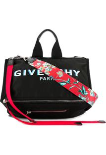 Givenchy Bolsa Carteiro Pandora Com Estampa De Logo - Preto