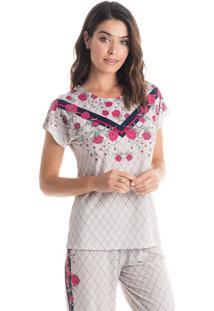 Pijama Isabela Mg Curta