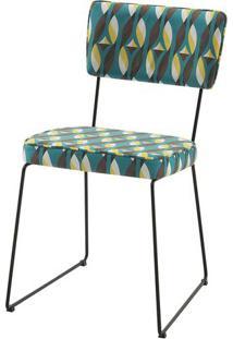 Cadeira Milan Estampa Geo Pit Base Preta - 49678 - Sun House