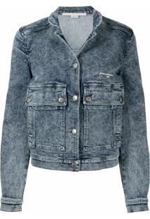 Stella Mccartney Jaqueta Jeans Com Efeito Destroyed - Azul