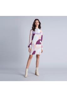 Vestido Gola Alta Zíper Estampa Arts - Lez A Lez