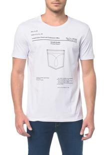 Camiseta Ckj Mc Est Bolso Branco 2 - Pp