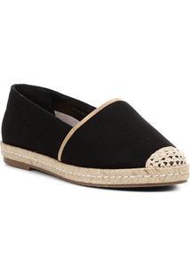 Sapatilha Shoestock Espadrille Corda Feminina - Feminino-Preto