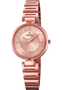 Relógio Festina Feminino Aço Rosé - F20322/1