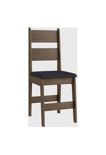 Cadeira Mdf Milano Par Marrom Móveis Cançáo