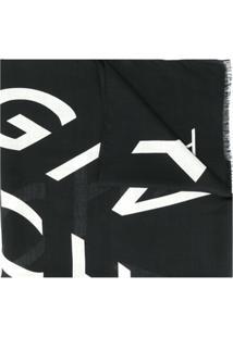 Givenchy Echarpe Com Estampa De Logo - Preto