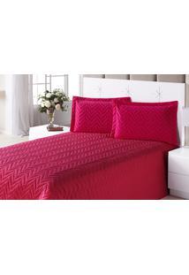 Colcha Clean Queen Pink Com 4 Peças Algodão E Poliester - Aquarela