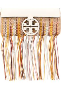 Tory Burch Miller Fringe Clutch - Neutro