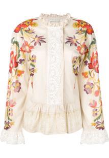Etro Blusa Com Padronagem Floral - Neutro