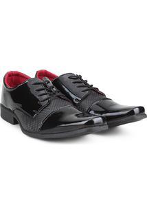 Sapato Social Walkabout Bico Quadrado Verniz - Masculino-Preto