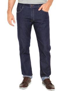 Calça Jeans Mr Kitsch Slim 9027 Bolsos Azul
