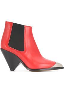 Isabel Marant Ankle Boot Cowboy - Vermelho