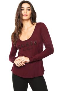 Camiseta Guess Los Angeles Vinho