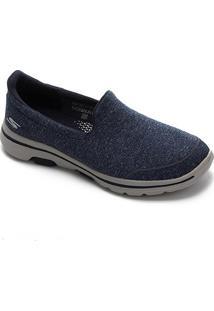 Tênis Skechers Go Walk 5-Super Sock Feminino - Feminino-Azul+Cinza