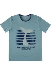Camiseta Em Algodão Estampada Com Modelagem Slim