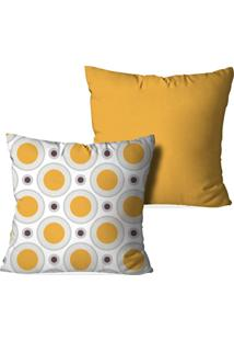 Kit 2 Capas Love Decor Para Almofadas Decorativas Bolas Poà Multicolorido Amarelo