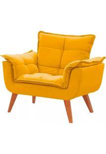 Poltrona Decorativa Opala Amarela Base Pã© Palito Meunovolar - Amarelo - Dafiti