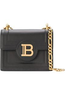 Balmain Bolsa Transversal B-Bag 18 - Preto