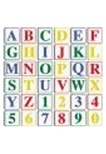 Papel De Parede Adesivo - Alfabeto E Numerais - 012Ppi