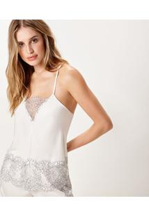 Pijama Joge Curto Off-White - Off-White - Feminino - Dafiti