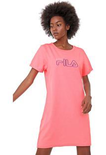 Vestido Fila Curto Neon Rosa