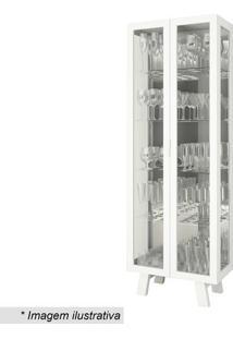 Cristaleira Com Portas- Branca- 182X63,4X33Cm- Ttecnomobili