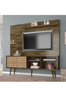 Estante Para Tv 2 Portas Turquesa Madeira Rústica/Madeira 3D - Móveis Bechara