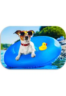 Tapete Decorativo Wevans Dog Piscina 40Cm X 60Cm Azul