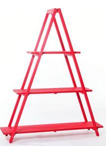 Estante Escada Troia Vermelho 150Cm - 61412 - Sun House