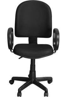 Cadeira Pethiflex Pegbp Giratória Couro Preto
