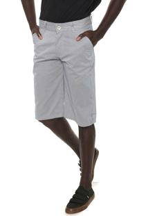 Bermuda Sarja Fiveblu Reta Estampada Branca